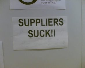 suppliers SUCK